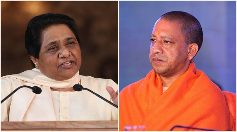 Image result for yogi and mayawati indian express