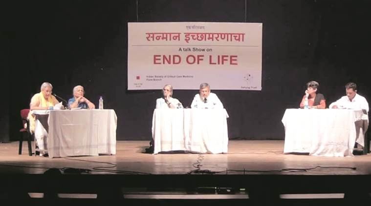 Participants at a talk show on End of life. (Express)