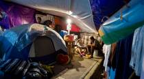 Six months after Mexico quake some still camp outside homes