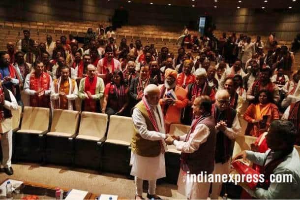 bjp parl meet photos, bjp parliamentary meeting images, pm modi pics, lk advani images, sushma swaraj pictures, bjp party images, indian express