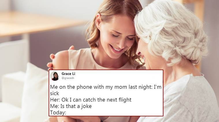 viral news, girl's viral tweet about mother, mother flies from texas to new york to be with daughter, grace li viral tweet, mother tweets, indian express, indian express news