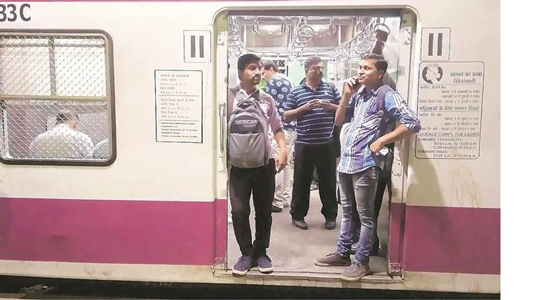 The vendors' compartments have fewer seats and more room to stand. (Vignesh Krishnamoorthy)