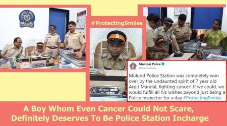 Twitterati laud Mumbai Police for making 7-year-old cancer fighter's dream come true