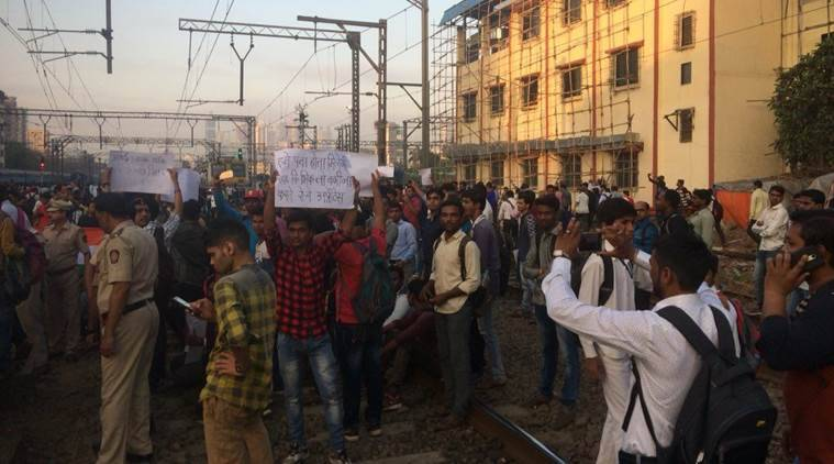 'Rail-roko' agitation: Students block train services in Mumbai, demand jobs
