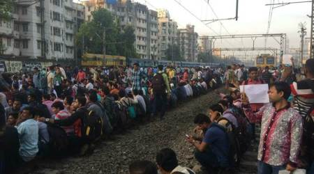 Mumbai Central Railway protest LIVE UPDATES: Students block tracks; services between Kurla, Dadar suspended