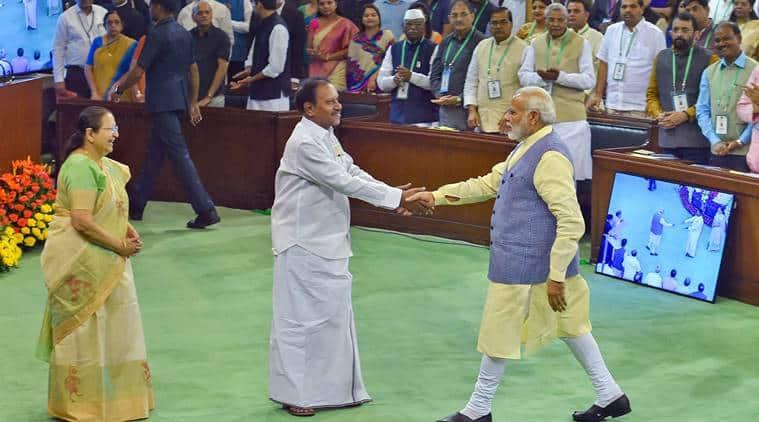 Narendra Modi in National Legislators Conference at Parliament