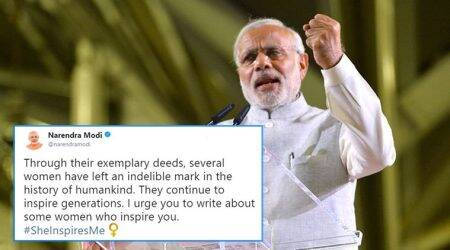 #SheInspiresMe: On Women's Day, PM Narendra Modi urges people to write about women who have inspiredthem