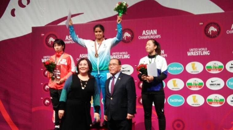 Navjot Kaur scripts History; wins Gold at Asian Wrestling Championship