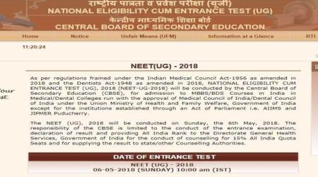 NEET 2018 admit card released at cbseneet.nic.in, exam on May 6