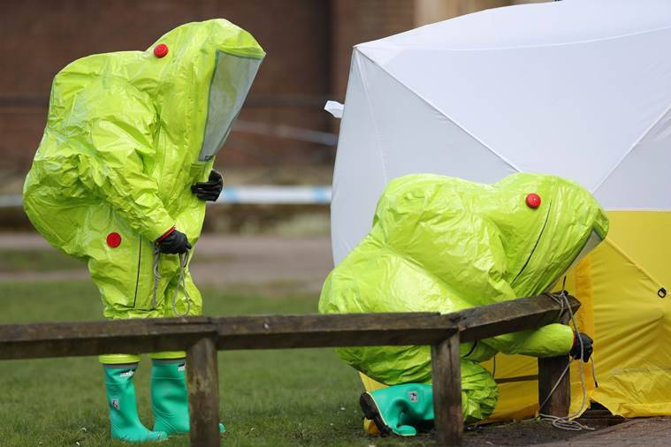 Ex-Russian spy poisoned with chemical nerve agent in Britain