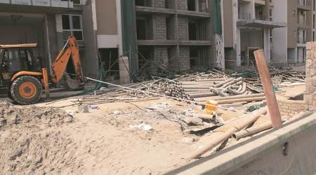 Scaffolding at Noida construction site collapses, 4 labourers injured