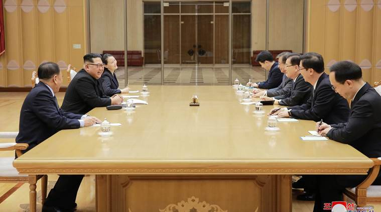 North Korea's Kim Jong Un, Seoul envoys have 'openhearted talk'
