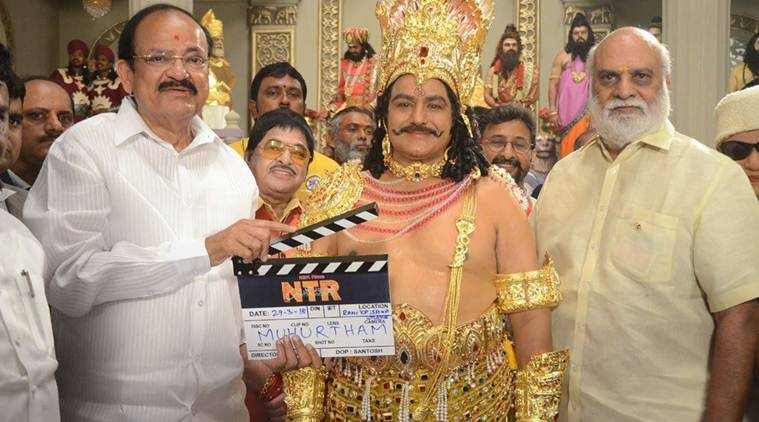 Shooting of NTR's biopic begins in Hyderabad's Ramakrishna Studios