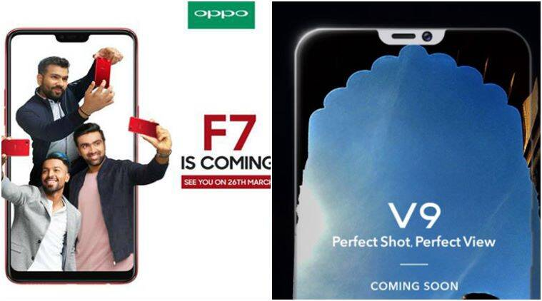 Oppo F7 Vivo V9 India Launch Later This Month Iphone X Like Notch