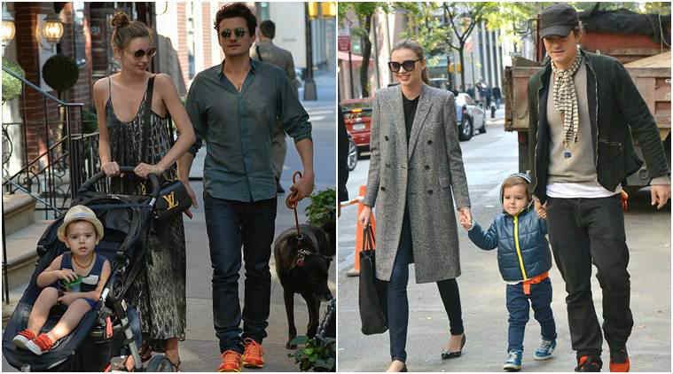 Orlando Bloom wit wife Miranda Kerr and son Flynn