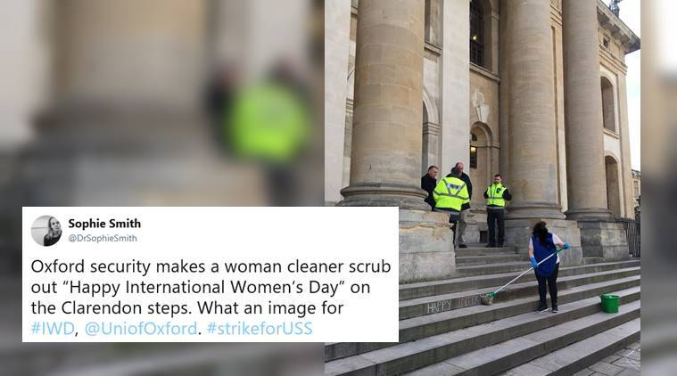 international womens day, womens day, oxford university, oxford university iwd viral photo, viral news, indian express