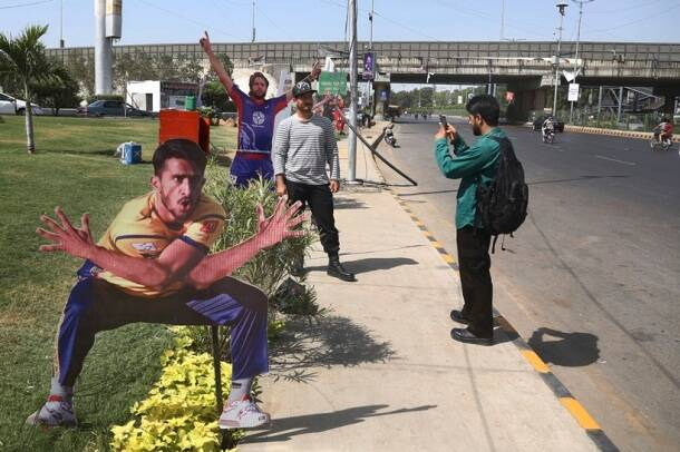 The city is being given a festive look for the final of the Pakistan Super League.
