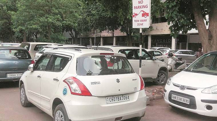 Chandigarh Parking, Chandigarh Hassle Free Parking, Chandigarh Municipality, Chandigarh News, Indian Express News