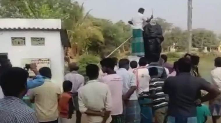 Another Periyar statue vandalised, this time in Pudukkottai