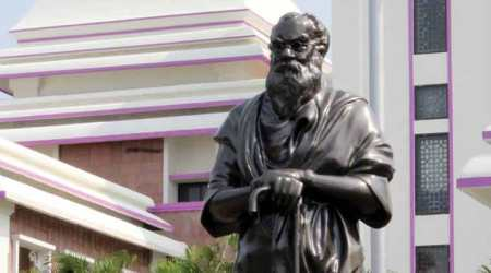 Hours after BJP leader H Raja's post, Periyar statue is vandalised in Tamil Nadu