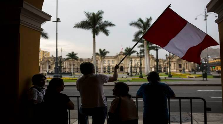 Peru's president offers his resignation on the eve of impeachment vote
