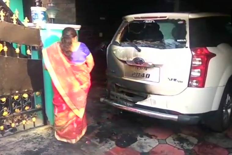Petrol bomb hurled at BJP district secretary's house in Coimbatore, investigation underway