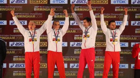 World Indoor Championships:Poles break relay world record as sport salutes RogerBannister