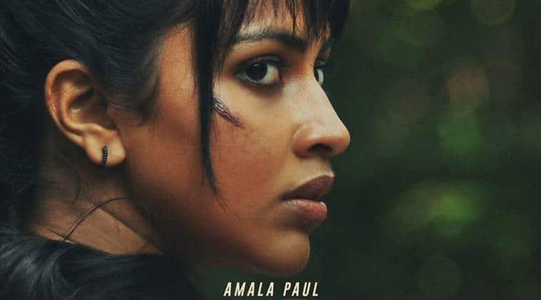 poster of Amala Paul next Adho Andha Paravai Pola