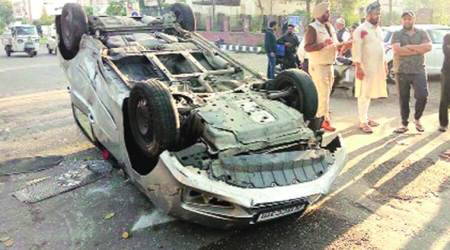 Ludhiana: Two dead, 2 hurt as cars collide