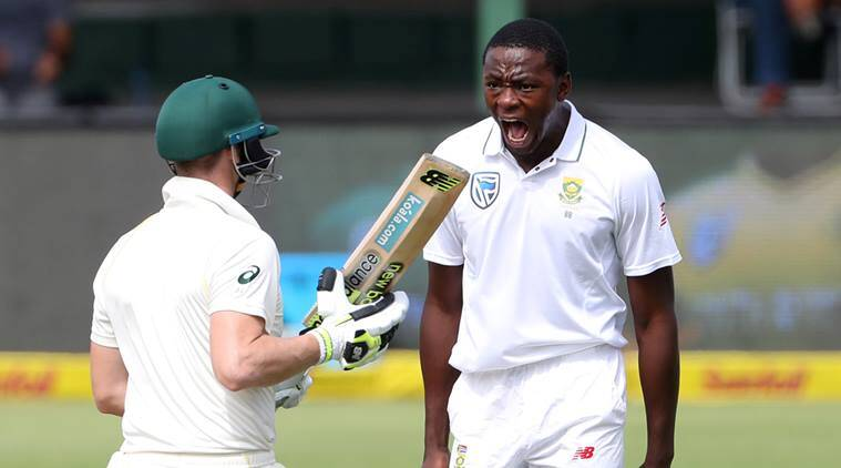 Kagiso Rabada with big celebration in Steve Smith's face against Australia