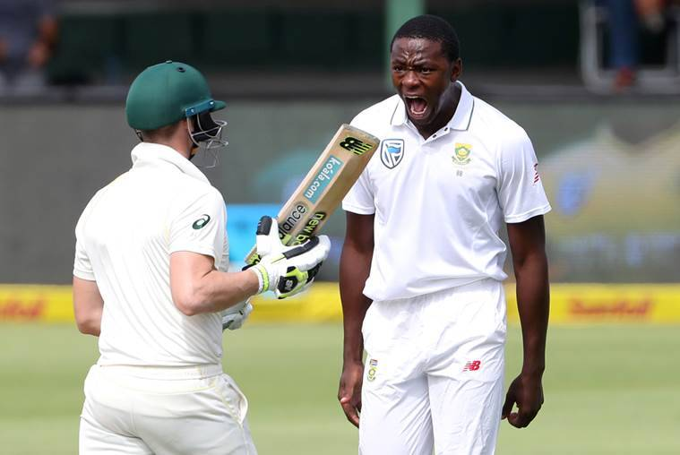 SAfrica's Rabada charged over Smith shoulder bump, faces ban