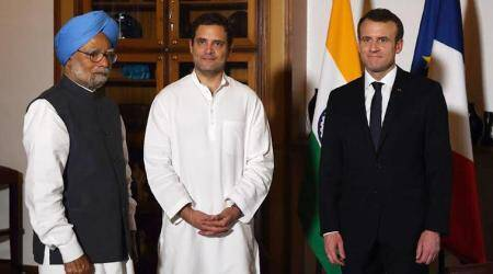 Rahul Gandhi meets French President Emmanuel Macron, Rafale deal not discussed