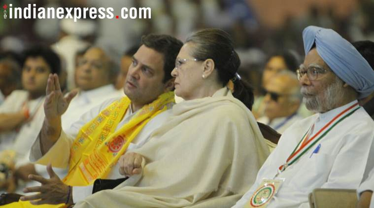 rahul gandhi, congress plenary session, manmohan singh, sonia gandhi, Indian national congress, rahul gandhi plenary session, aicc plenary session, congress 84th plenary session, narendra modi, bjp, indian express news