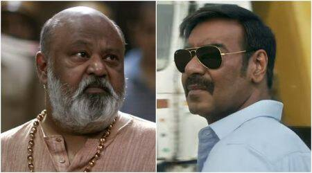 ajay devgn and saurabh shukla in raid