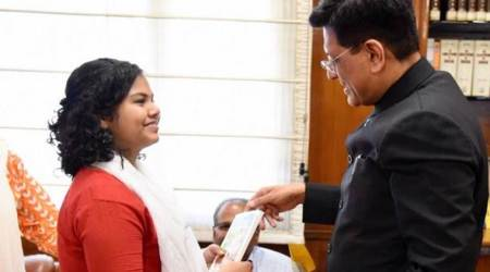 Piyush Goyal gifts PM's book to girl who ran away after failing maths test