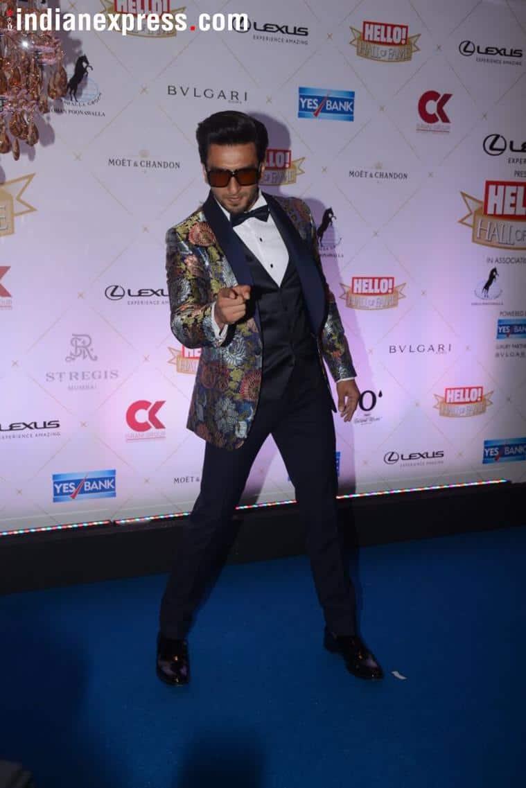 ranveer singh at the hall of fame award
