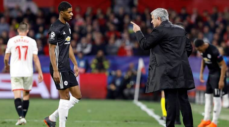 Image result for Rashford ditegur Jose Mourinho
