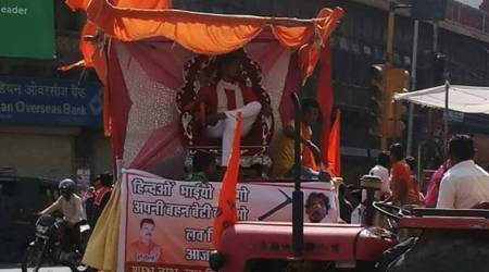 Ram Navami tableau in Jodhpur glorifies murder accused Shambhulal Regar
