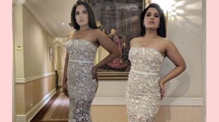 Semi-sheer is great but Richa Chadha's look is a bigdisappointment