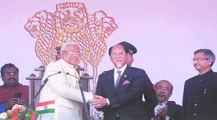 Nagaland:Neiphiu Rio takes CM oath, cabinet moves to rename Indira stadium