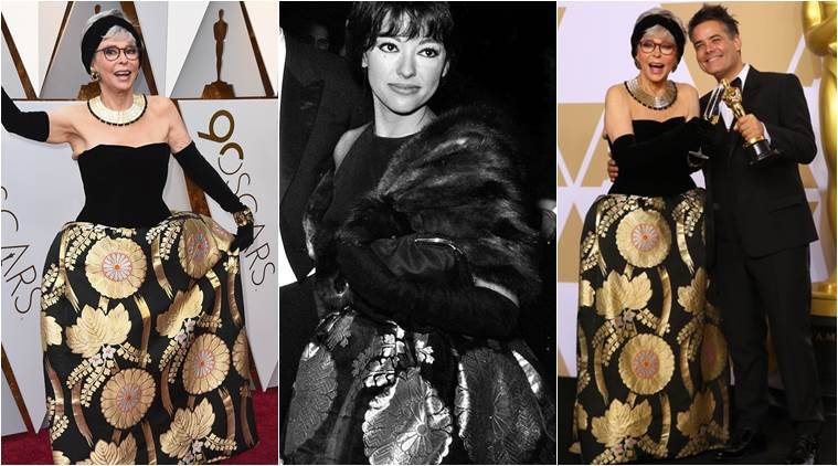 Rita Moreno wears same dress she wore in 1962 to 2018 Oscars