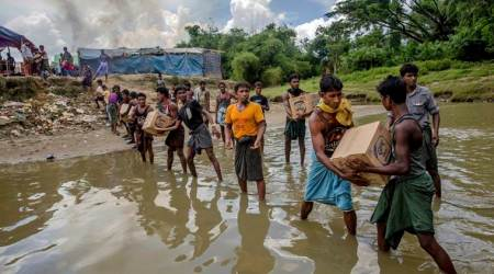 Monsoon floods and landslides threaten 100,000 Rohingya refugees in Bangladesh