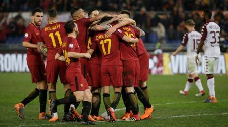 AS Roma players put aside heartbreak to beat Torino 3-0