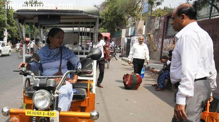 women's day 2018 , women's day special, iwd 2018, womens day inspiring stories, women drivers, International women's day, Female Electric Rickshaw Driver, First woman E Rickshaw Driver, E Rickshaw Drivers in delhi , Women E-Rickshaw Drivers, indian express