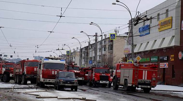 Russia Fire, Russia Kemerovo fire, live updates, winter cherry shopping complex, russian fire incident, siberia fire, world news. indian express