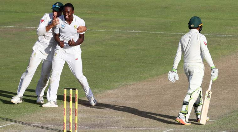 South Africa vs Australia, Aus vs SA, SA vs Aus 2nd Test, Usman Khawaja, Usman Khawaja batting, Usman Khawaja runs, Kagiso Rabada, sports news, cricket, Indian Express