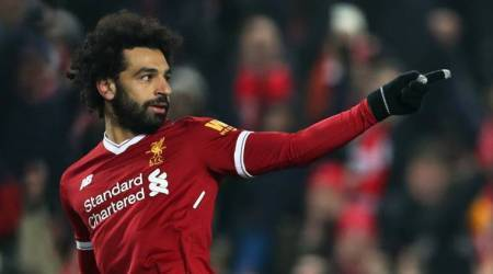 Liverpool's Mohamed Salah scores for seventh game in arow