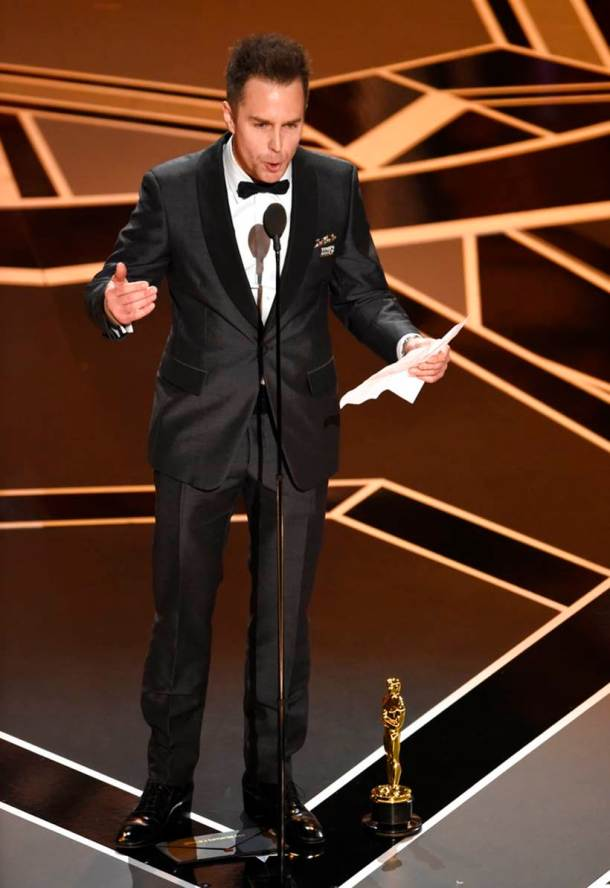 sam rockwell oscars best supporting actor winner photos