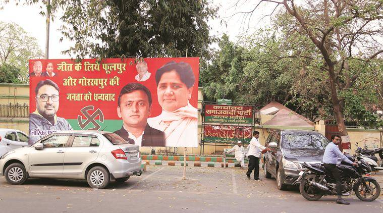 SP-BSP coalition, Akhilesh Yadav, Mulayam Singh Yadav, Mayawati, Lok Sabha elections 2019, General assembly elections, UP bye-election results, India news, indian express news