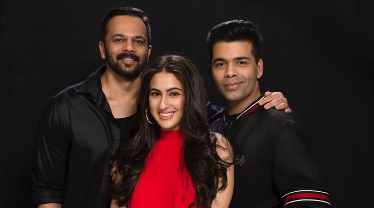 Sara Ali Khan and Ranveer Singh in Simmba